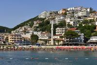 Montenegro, Crna Gora, city beach of Ulcinj