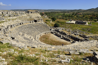 Turkey, Aydin Province, Caria, antique roman theater, archaeological site of Miletus