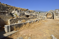 Turkey, Antalya Province, antique theater, archaeological site of Xanthos