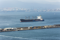 Spain, Andalucia, Algeciras, Oil tanker in the Bay of Gibraltar
