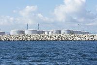 Spain, Andalusia, Algeciras, Oil tanks