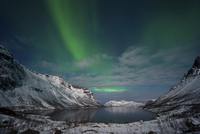Norway, Province Troms, View of Aurora Borealis