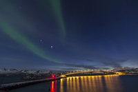 Norway, Province Troms, View of Aurora Borealis near Tromso