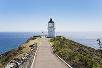 New Zealand, Northland, Cape Reinga, Man at Lighthouse 20025330588| 写真素材・ストックフォト・画像・イラスト素材|アマナイメージズ