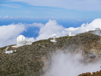 Spain, Canary Islands, La Palma, Observatory at Roque de los Muchachos