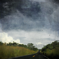 Mexicao, Puebla, country road, textured effect