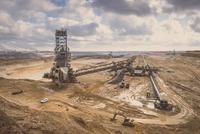 Germany, Juechen, brown coal mining with bucket-wheel excavator