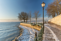 Germany, Friedrichshafen, Castle jetty at Lake Costance in winter