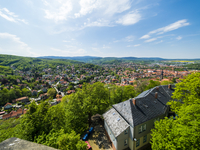 Germany, Saxony-Anhalt, Wernigerode, old town, view from Wernigerode Castle
