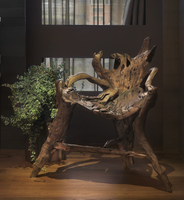 Raw wooden chair