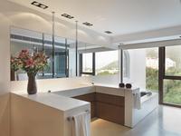 Mirror along cabinets in bedroom and scenic view; Scottsdale; USA 20025341054| 写真素材・ストックフォト・画像・イラスト素材|アマナイメージズ