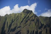 Low angle view of rock formations Na Pali Coast State Park, Kauai, Hawaii Islands, USA