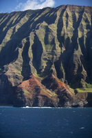Rock formations at the water's edge, Na Pali Coast State Park, Kauai, Hawaii Islands, USA