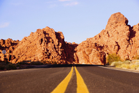 Road passing through a landscape, Las Vegas, Nevada, USA