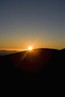 Sunset over a mountain,Mauna Kea,Big Island,Hawaii,USA