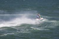 Speedboat in the sea,Santa Barbara,California,USA 20025342092| 写真素材・ストックフォト・画像・イラスト素材|アマナイメージズ