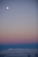 Moon in the sky,Mauna Kea,Big Island,Hawaii,USA