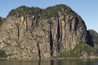 Cape Trinity at entrance to Eternity Bay, Saguenay River, off St. Lawrence, Quebec, Canada, North America