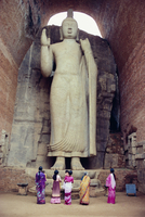 Standing Buddha statue, Aukana, near Sigiriya, Sri Lanka, Asia