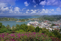 Capital city of Castries, St. Lucia, Windward Islands, West Indies, Caribbean, Central America