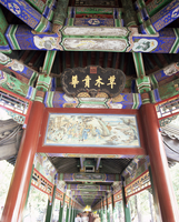 The Long Corridor (Changlang), decorated with 700m of mythical scenes, The Summer Palace, UNESCO World Heritage Site, Beijing, C 20025347813| 写真素材・ストックフォト・画像・イラスト素材|アマナイメージズ