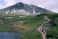 Mount Asahidake, 2290m, Daisetsuzan National Park, island of Hokkaido, Japan, Asia
