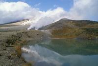 Sulphur vents, Mount Asahidake, island of Hokkaido, Japan, Asia