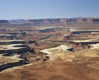 Landscape with Green River in the Island in the Sky District of the Canyonlands National Park, in Utah, United States of America