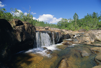 Pools and waterfall, Mountain Pine Ridge Reserve Rio On, near San Ignacio, west Belize, Central America