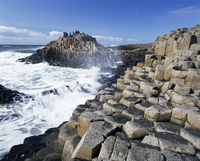 Giant's Causeway on the Causeway coast, 37,000 hexagonal basalt columns, UNESCO World Heritage Site, County Antrim, Ulster, Nort