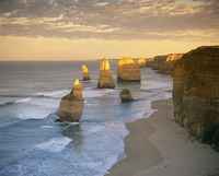 The Twelve Apostles along the coast on the Great Ocean Road in Victoria, Australia, Pacific