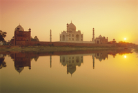 Taj Mahal at Sunset, Agra, Uttar Pradesh, India, Asia