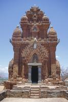 Poklongarai (Po Klong Garai) Cham tower, 13th century Champa brick built, Phan Rang, Vietnam