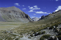 Path into Lha Chu canyon , on the kora, path round mountain sacred to Buddhists and Hindus, Mount Kailas (Kailash), Tibet, China