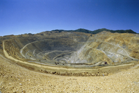 Open pit mine, the largest in the world, pit is 3800m across and 720m deep, Bingham Canyon Copper Mine, Utah, United States of A