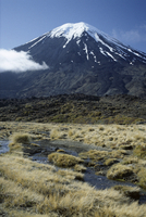 Dormant volcano, Mount Ngauruhoe, Tongariro National Park, UNESCO World Heritage Site, Taupo, South Auckland, North Island, New