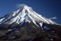 Koryaksky volcano, 3456m high, conical andesite volcano, Kamchatka, UNESCO World Heritage Site, Eastern Siberia, Russia, Eurasia