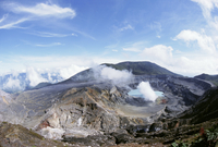 Steam plume from active vent beside crater lake, Volcan Poas, Cordillera Central, Costa Rica, Central America