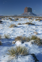 Monument Valley in winter, Mitchell Butte, Arizona, United States of America, North America