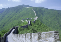 Restored section of the Great Wall (Changcheng), northeast of Beijing, Mutianyu, China, Asia