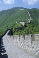 A restored section of the Great Wall, Mutianyu, northeast of Beijing, China