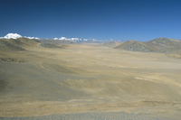 Lalung La on Kathmandu-Lhasa road, Shisapangma snow peak in distance, Tibetan Plateau, Tibet, China, Asia