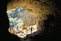 Sof Omar cave, exit into the downstream gorge, Southern Highlands, Ethiopia, Africa