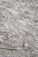 Recent pahoehoe basalt lavas, Erte Ale volcano, Danakil Depression, Ethiopia, Africa