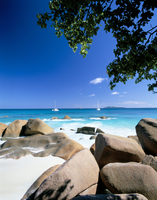 Beach, Anse Lazio, island of Praslin, Seychelles, Indian Ocean, Africa