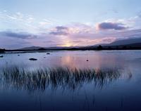 Loch Ba' at sunrise, Rannoch Moor, near Glencoe, Western Highlands, Scotland, United Kingdom, Europe