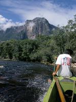 Angel Falls from Rio Churun, Canaima National Park, UNESCO World Heritage Site, Venezuela, South America