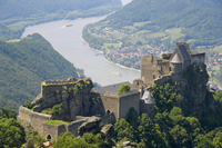 Schloss Aggstein with River Danube, Wachau, Austria