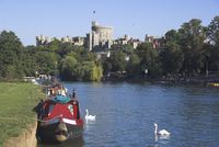 Windsor castle and river Thames, Berkshire, England, United Kingdom, Europe