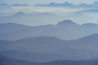 View from Mount Ventoux looking towards the Alps, Rhone Alpes, France, Europe